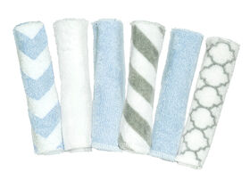 Kushies Washcloths 6-Pack - Blue