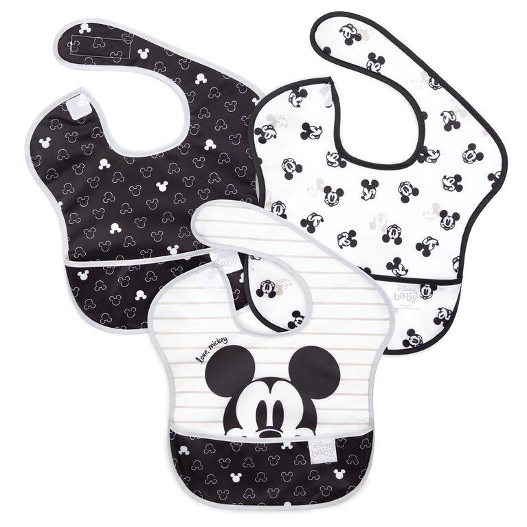 Bumkins Disney SuperBib, 6-24 mois, lot de 3 - Mickey Mouse