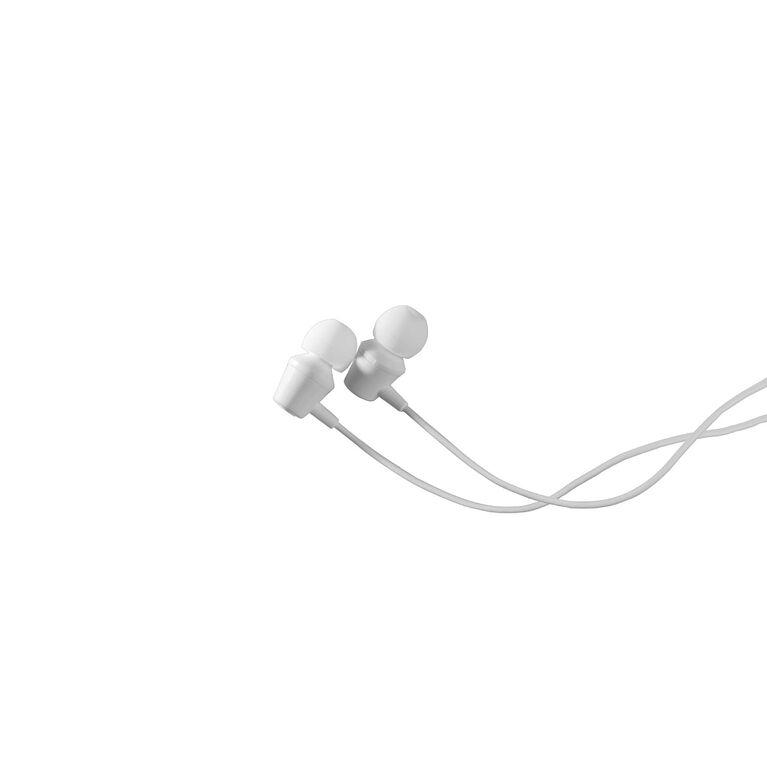 JAM BUDS câblé dans les oreillettes w micro blanc