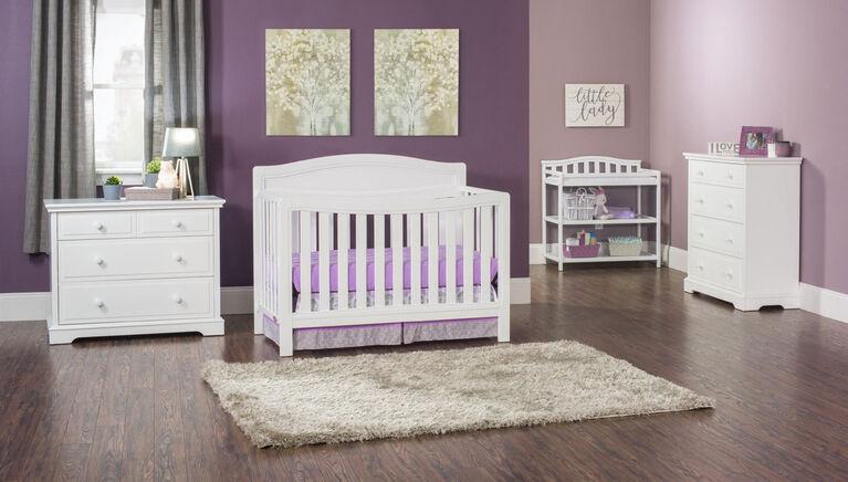 Lit de bébé Convertible 4-en-1 Dresden de Child Craft - blanche.