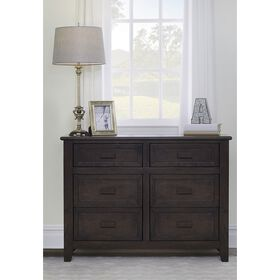 Baby Cache Collins Double Dresser - Charcoal Brown||Baby Cache Collins Double Dresser - Charcoal Brown