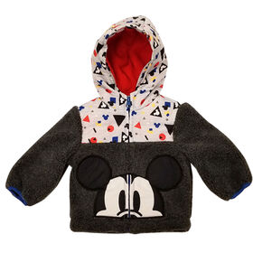 Baby Boy Mickey Mouse Sherpa Jacket 3 Months