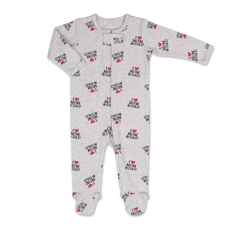 Dormeuse Koala Baby à Glissière à imprimé «I Heart Mom And Dad», 12 Mois