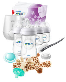 Philips Avent Natural All in One Gift Set with Snuggle Giraffe