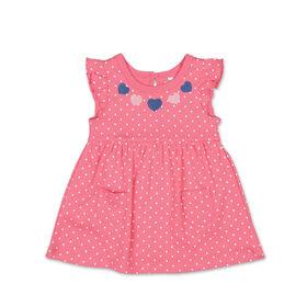 Koala Baby Short Sleeve Pink Heart Polka Dot Dress - 3-6 Months