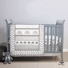 Belle Elephant Walk 3pc Bed Set (Quilt, Sheet, Dust Ruffle)