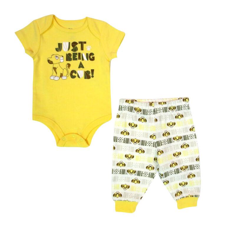 Disney Lion King Cache couches et pantalon - Jaune, 12 mois