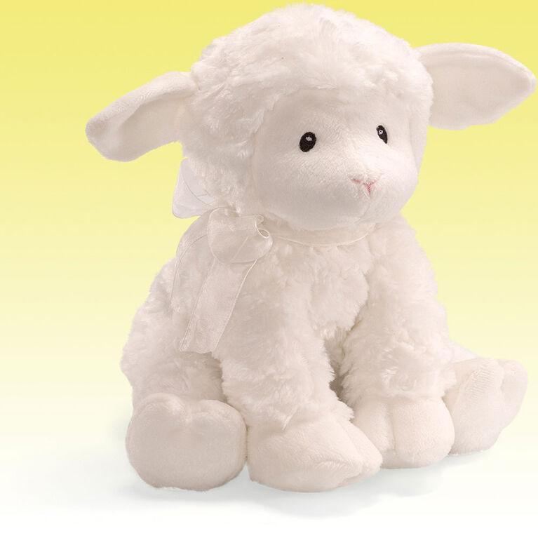 Baby GUND Lena Lamb Brahm's Lullaby Keywind Musical Sound Toy Plush Stuffed Animal, White, 10 Inch