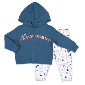 Koala Baby Nature's Calling Short sleeve Bodysuit/Printed Jogger 2 Piece Set, 18 Month