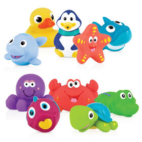 Nuby Little Squirts 10-Piece Bath Squirters