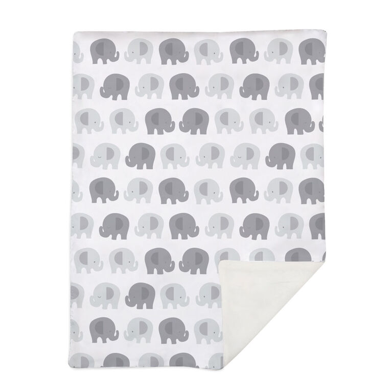Lolli by Lolli Living Stroller Blanket - Bailey Elephant