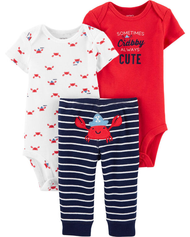 Carter's 3 piece Crab Set - 6-9 Months