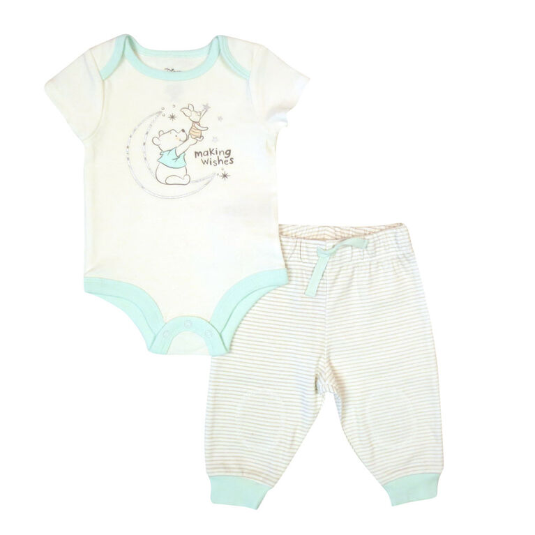 Disney Winnie the Pooh Bodysuit with Pant - Grey, 9 Months