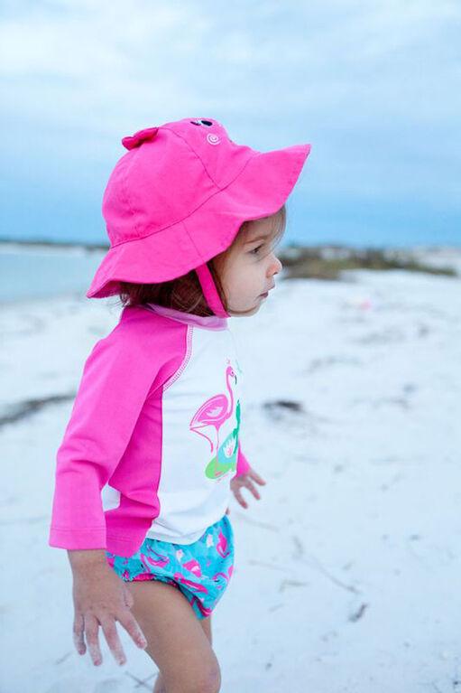 Zoocchini - Swim Diaper & Hat Set - Flamingo - Large