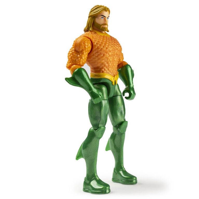 DC Comics 4-Inch AQUAMAN vs. BLACK MANTA Action Figure 2-Pack with 6 Mystery Accessories, Adventure 1