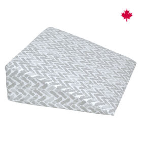 Perlimpinpin Wedge Pillow- Chevrons Grey