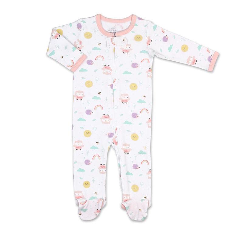 Koala Baby Almanac Girl Print Zip-Front Sleeper, 3-6 Months