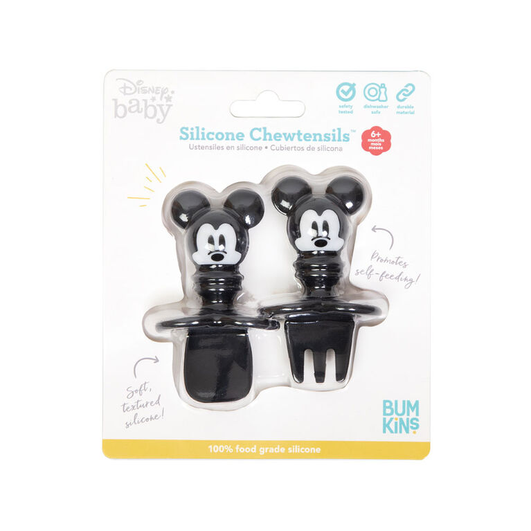 Bumkins Disney Chewtensils, Baby Led Weaning Stage 1 for Ages 6 months up - Mickey Mouse