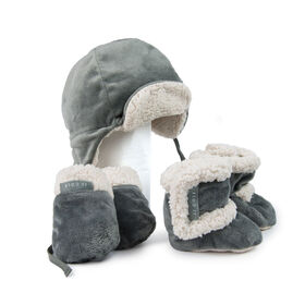 JJ Cole Baby Bomber Hat Set - 0 to 6 Months - Graphite