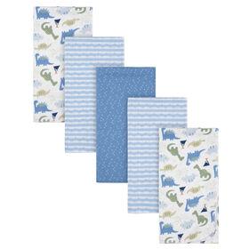 Paquet de 5 couvertures de flanelle pour bébé de Gerber - Dinosaure