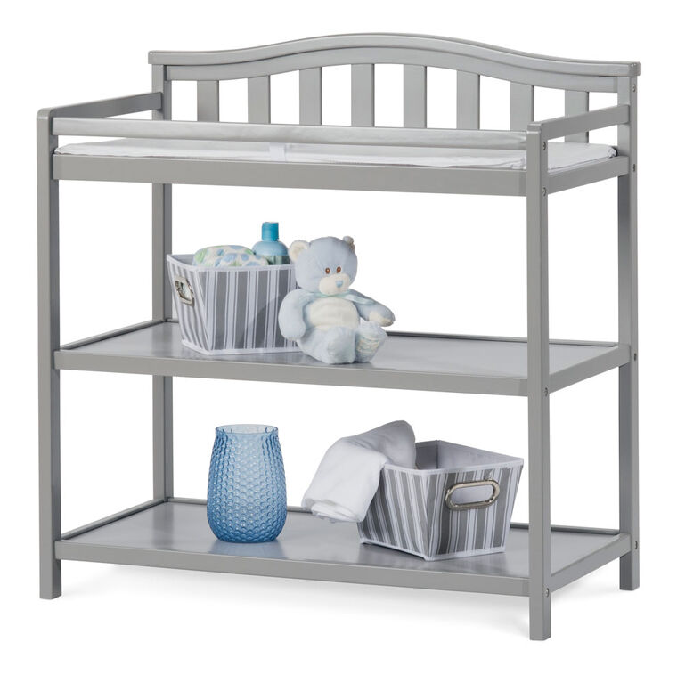 Child Craft Camden Dressing Table, Cool Gray