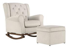 Lennox Furniture Elsa bascule toufeftée avec Pouf de Rangement - Notre exclusivité