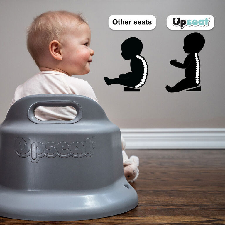 Upseat Floor & Booster Seat - Grey