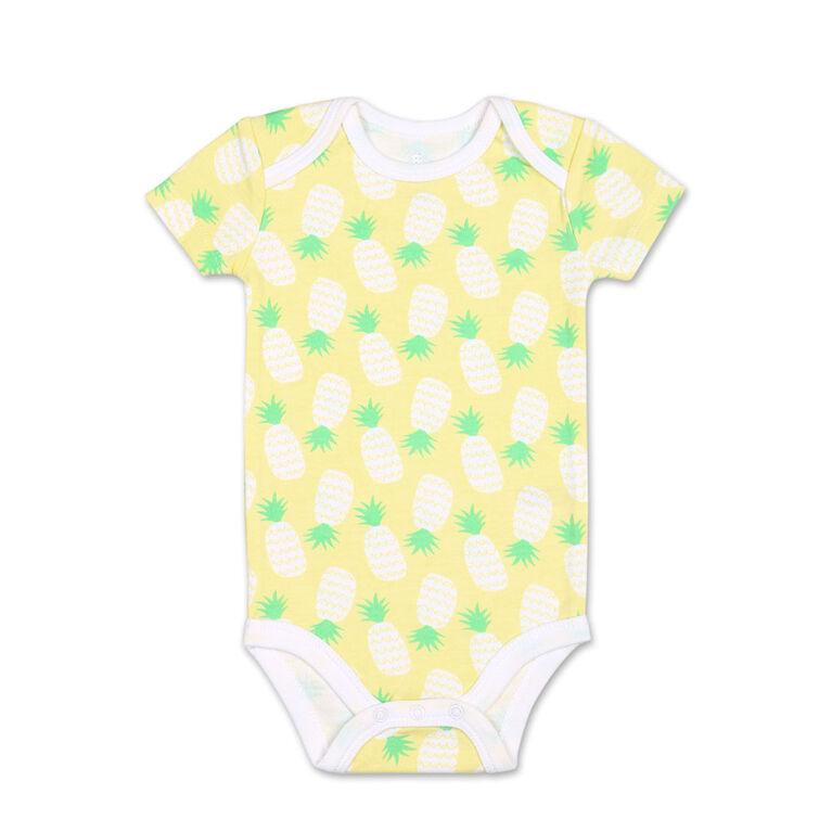 Koala Baby 4Pk Short Sleeved Bodysuit, G Pineapple, 0-3 Months