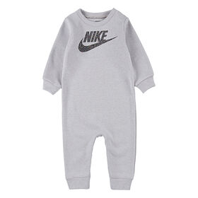 Nike Coverall -N- Multi Heather Grey, Size 3 Months