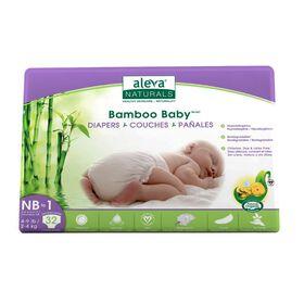 Couches Bambou Baby de Aleva Naturals, nouveau-né à 1.