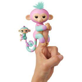 Les bébés singes Fingerlings & BFF Mini - Ashley & Chance (Rose-Turquoise).