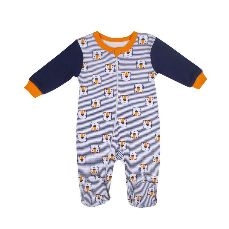 Rococo 1 Piece Sleeper - Blue, Newborn