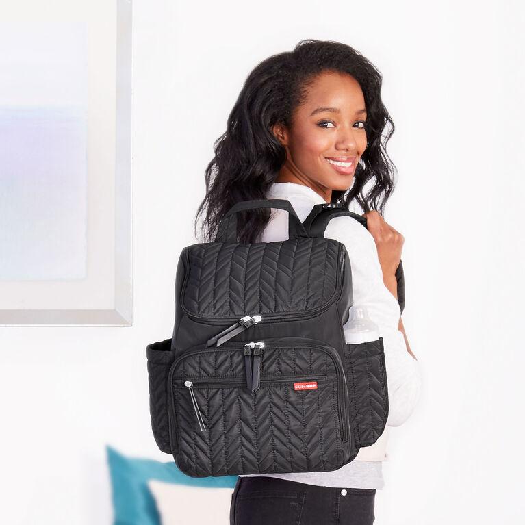 Skip Hop Forma Pack & Go Diaper Backpack - Jet Black