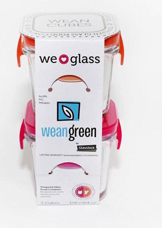 Wean Green Wean Cube, 2-Pack - Pink/Orange
