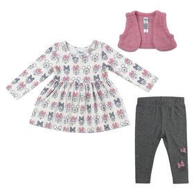 Disney Minnie Mouse 3pc Tunic Set - Pink, 12 Months