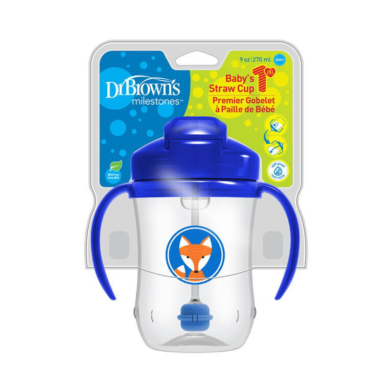 Dr. Brown's Baby's First Straw Cup - Blue