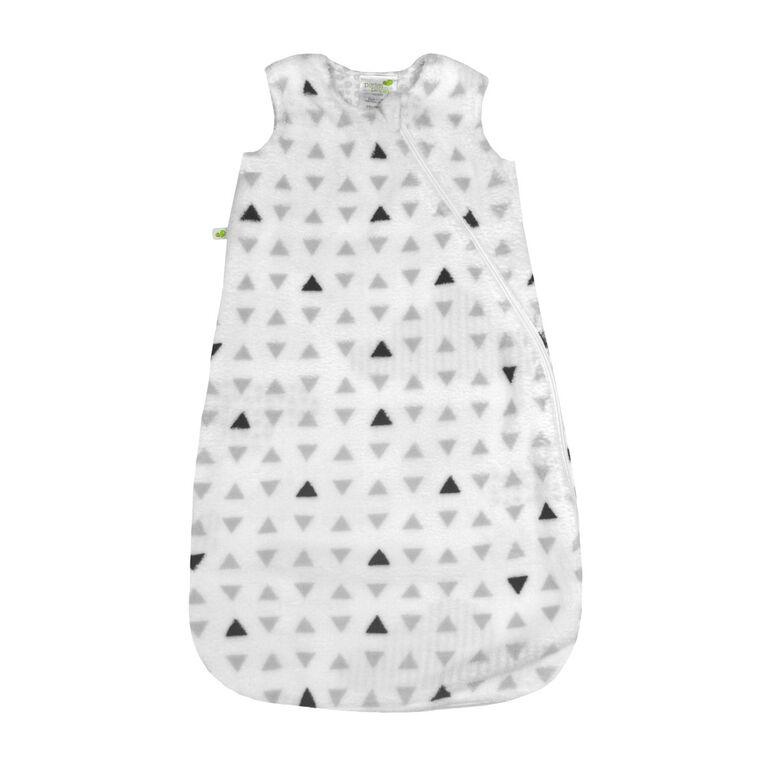 Perlimpinpin plush sleep bag - Triangles, 0-6 Months