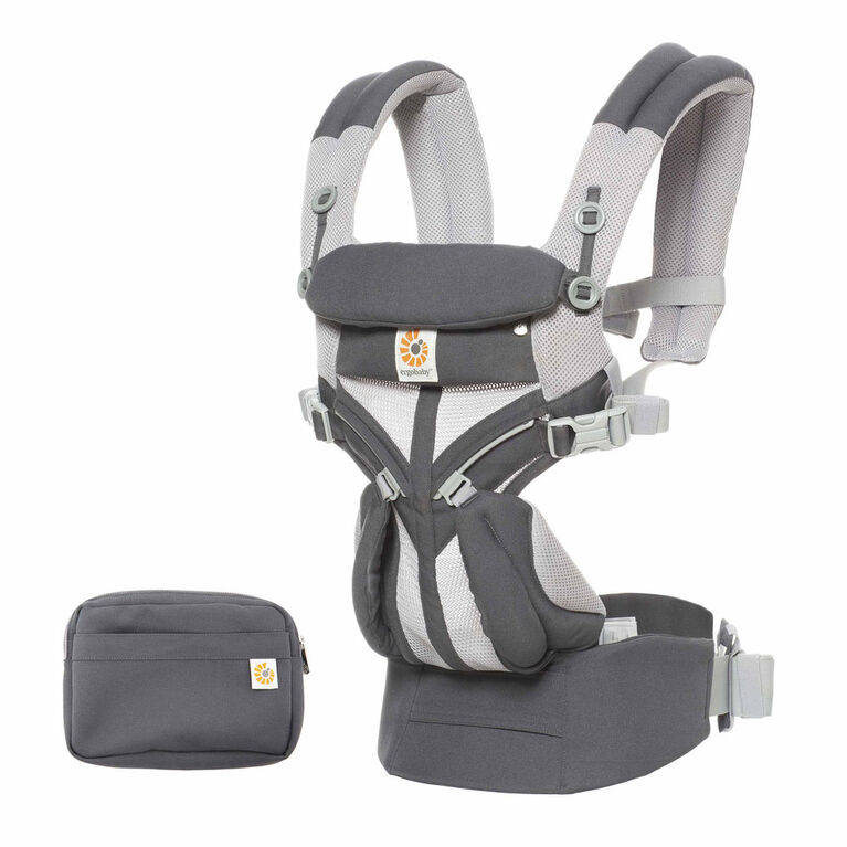 Ergobaby Omni 360 Cool Air Mesh All-in-One Ergonomic Baby Carrier - Carbon Grey