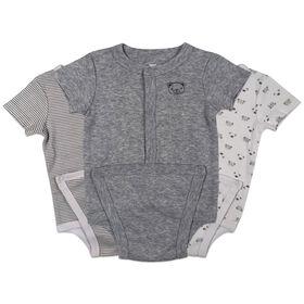 Koala Baby 3-Pack Diaper shirt - Grey, Newborn