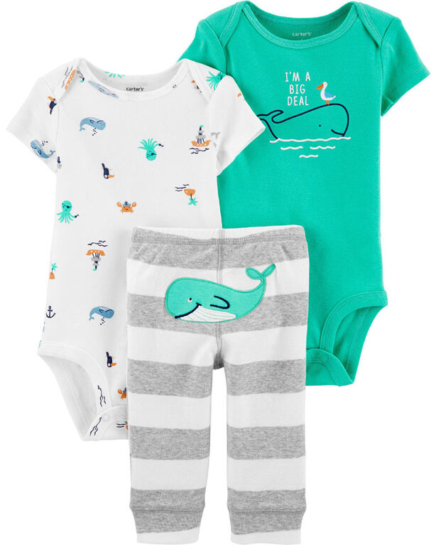 Carter's 3 piece Whale Set -