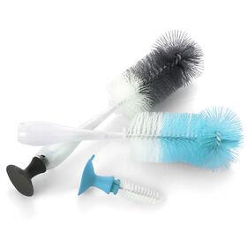 Evenflo 2-in-1 Bottle Brush 2-Pack - Teal/Gray