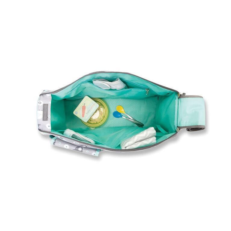 Baby Boom Elephant Duffle Diaper Bag - Grey/Green