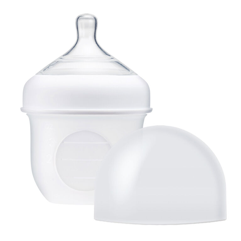 Boon Nursh Silicone Pouch Bottle 4 oz Clear