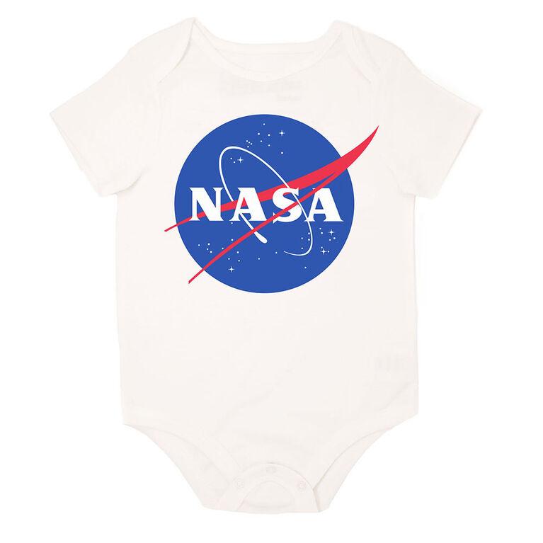 NASA Cache couche en tricot blanc 6mois