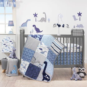 Bedtime Originals - Roar 3-Piece Crib Bedding Set - Blue