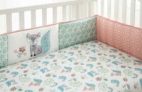 Levtex Baby - Bordure de protection Fiona pour lit de bébé 4pièces.