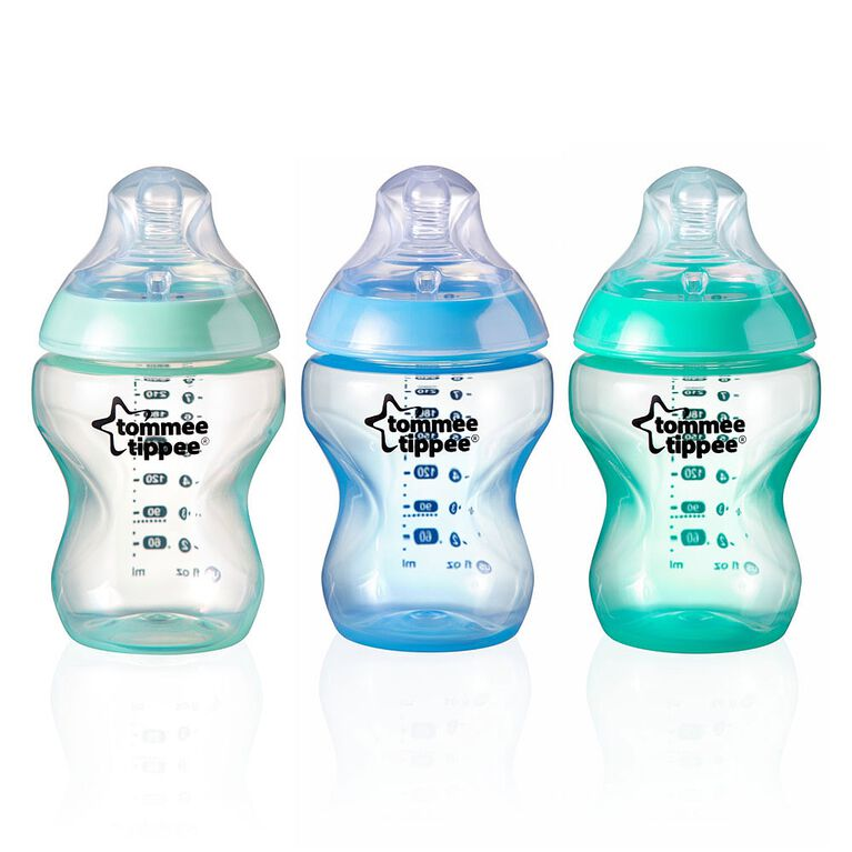 Tommee Tippee Closer to Nature X3 Bottles 9oz Colour My World