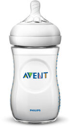 Biberon Philips Avent Naturel, transparent, 9 oz, emb. de 3.