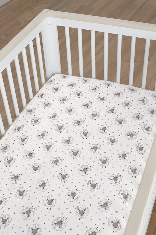Drap housse pour berceau de Just Born Counting Sheep Collection