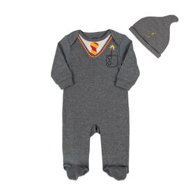 Harry Potter Sleeper with hat - Grey, 9 Months.
